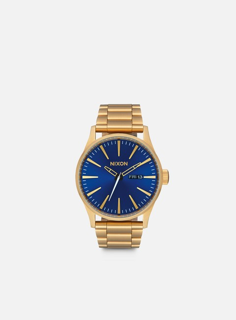 accessori nixon sentry ss all gold blue sunray