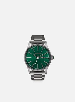 Nixon - Sentry SS, All Gunmetal/Green Sunray
