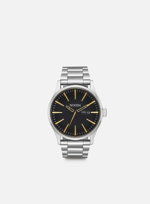 accessori nixon sentry ss black stamped gold