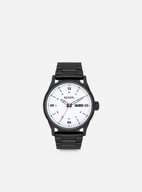 accessori nixon sentry ss black white