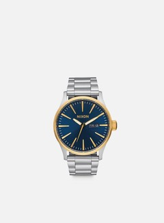 Nixon - Sentry SS, Gold/Blue Sunray 1