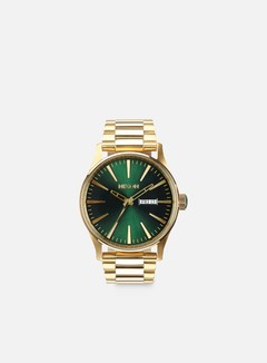 Nixon - Sentry SS, Gold/Green Sunray 1