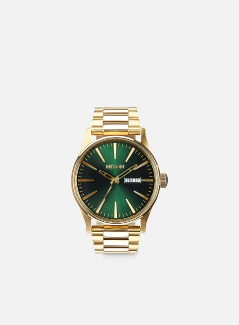 accessori nixon sentry ss gold green sunray