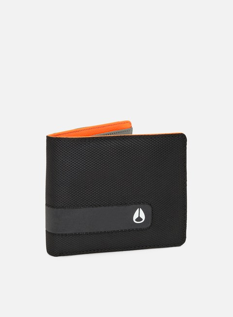 accessori nixon showtime bi fold id zip wallet gunmetal