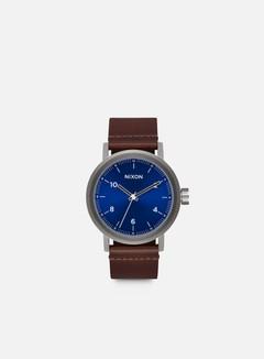Nixon - Stark Leather, Blue Sunray/Brown