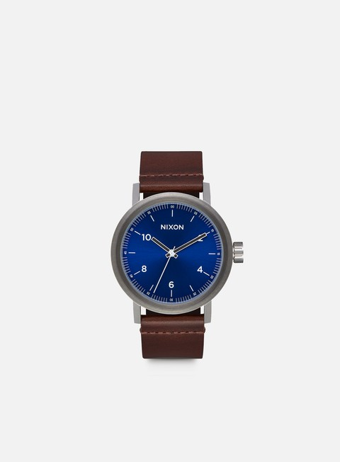 accessori nixon stark leather blue sunray brown
