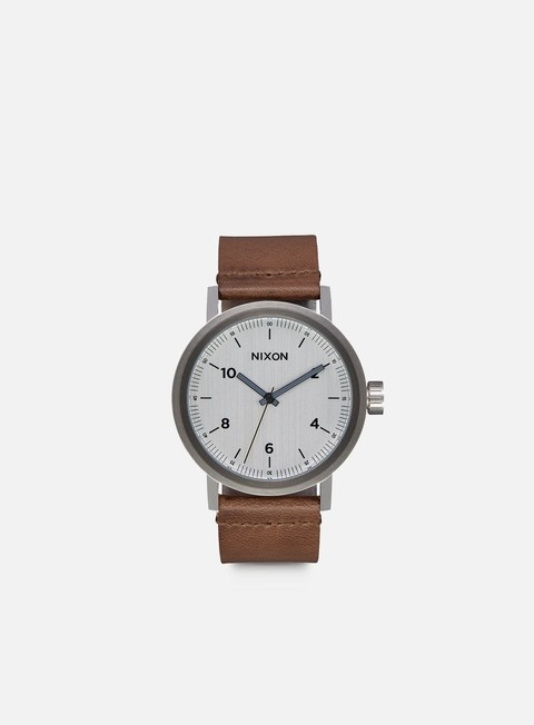 accessori nixon stark leather silver saddle