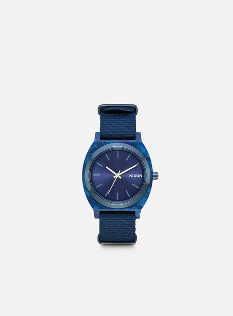 accessori nixon time teller acetate all blue