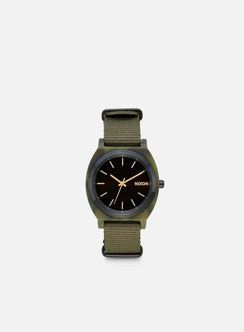 accessori nixon time teller acetate camo gunmetal