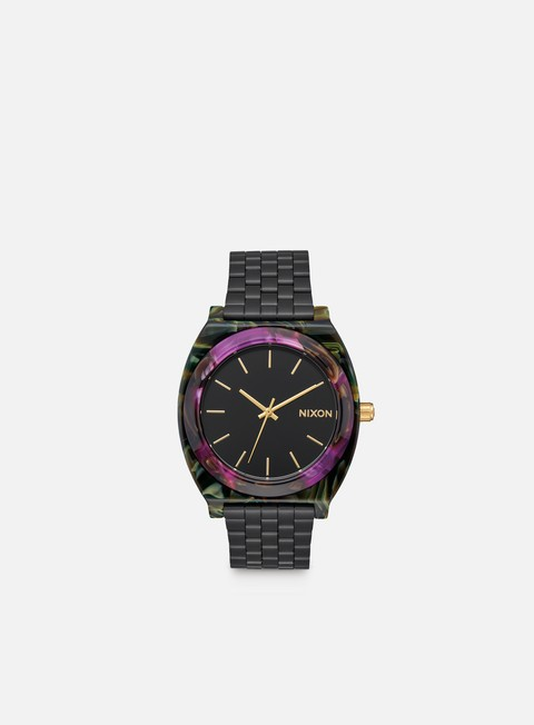 accessori nixon time teller acetate multi black