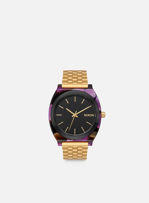 accessori nixon time teller acetate multi gold