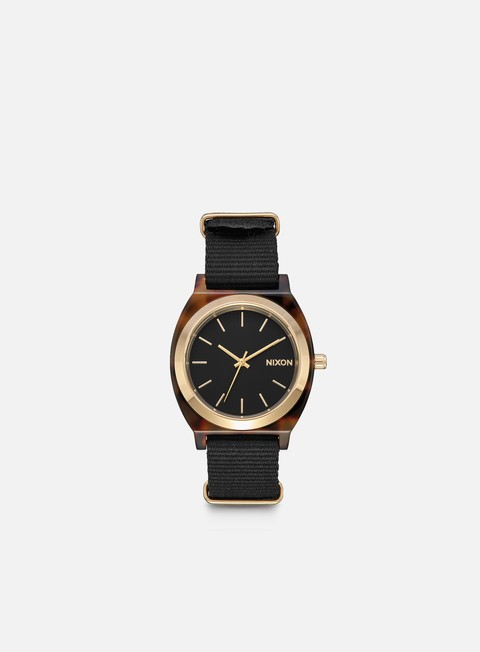 accessori nixon time teller acetate tortoise black