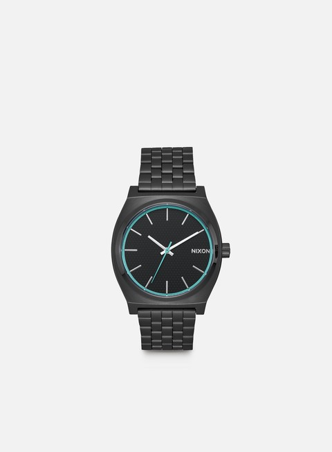 accessori nixon time teller all black blue