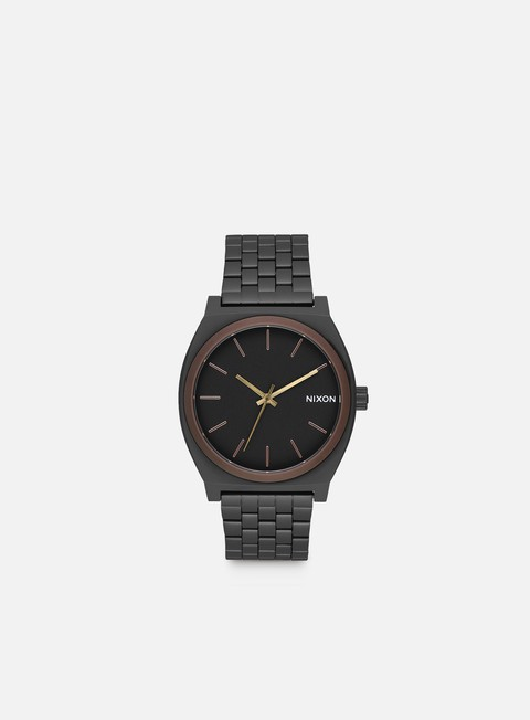 accessori nixon time teller all black brown brass