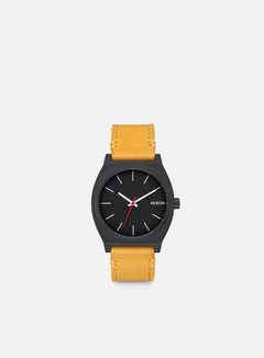 Nixon - Time Teller, All Black/Goldenrod