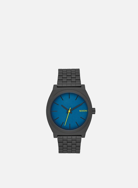 accessori nixon time teller all black seaport blue