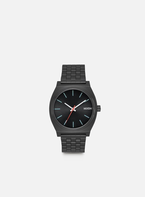 accessori nixon time teller all black silver lum