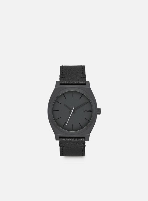 accessori nixon time teller all black slate