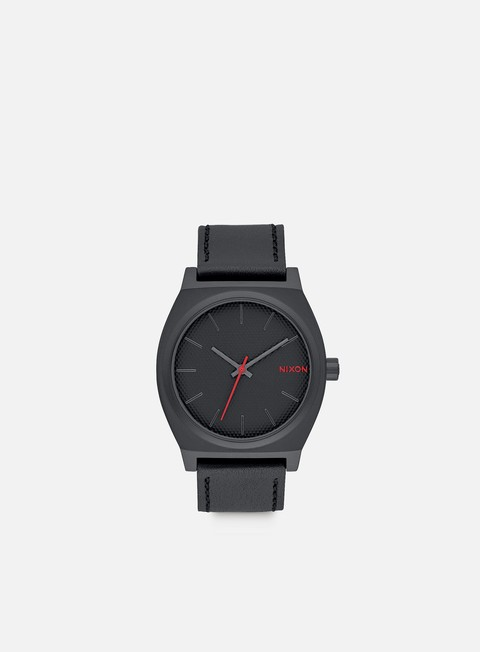 accessori nixon time teller all black stamped