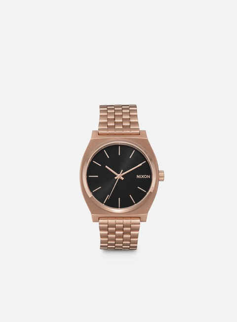 accessori nixon time teller all rose gold black sunray