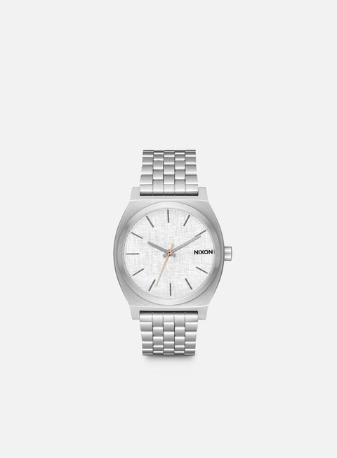 accessori nixon time teller all silver rose gold