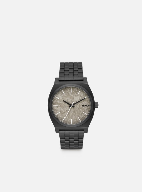 accessori nixon time teller black concrete