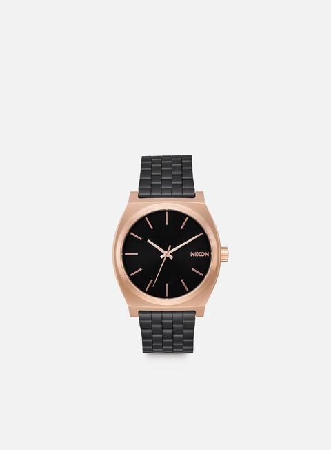 accessori nixon time teller black rose black