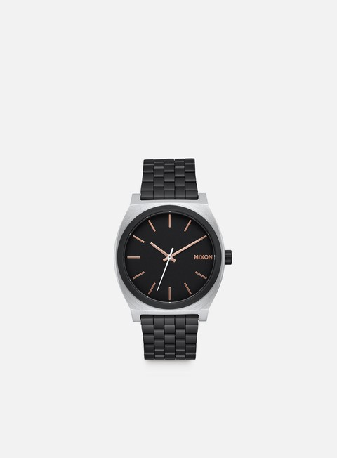 accessori nixon time teller black rose gold