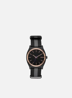 Nixon - Time Teller, Black/Rose Gold/Charcoal