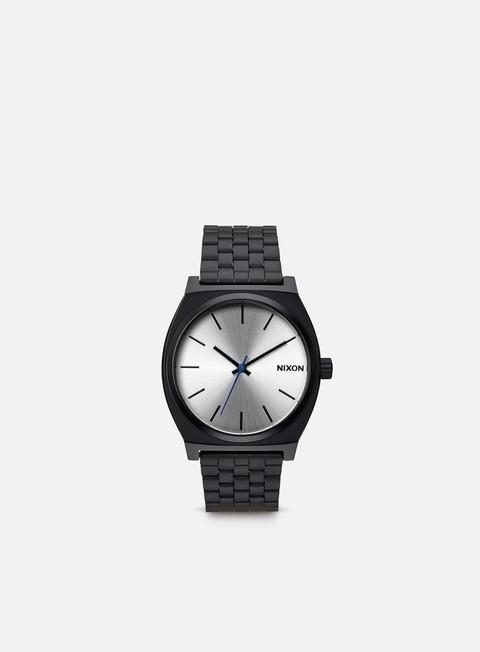 accessori nixon time teller black silver
