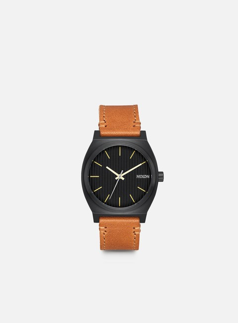 accessori nixon time teller black stamped brown