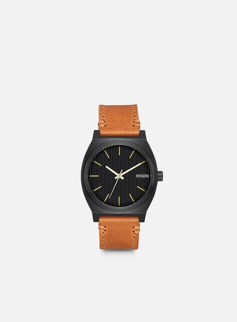 accessori nixon time teller black stamped brown