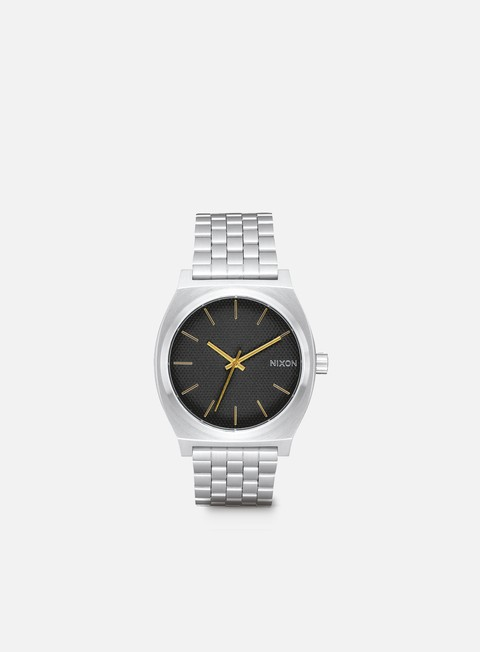 accessori nixon time teller black stamped gold