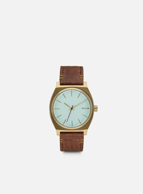 accessori nixon time teller brass green crystal brown
