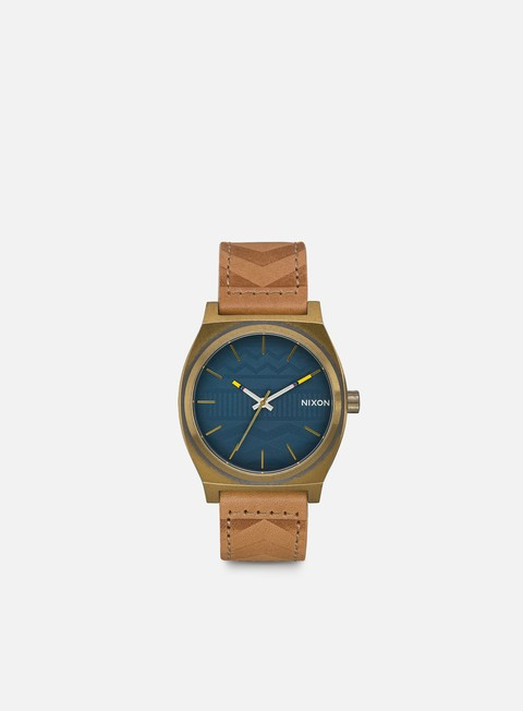 accessori nixon time teller brass navy hickory