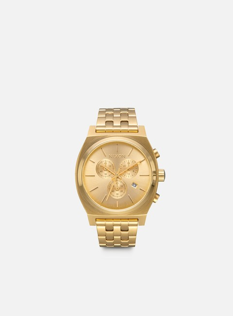 accessori nixon time teller chrono all gold