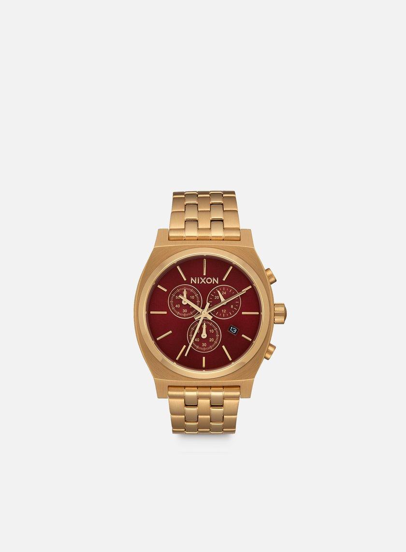Nixon - Time Teller Chrono, All Gold/Deep Burgundy