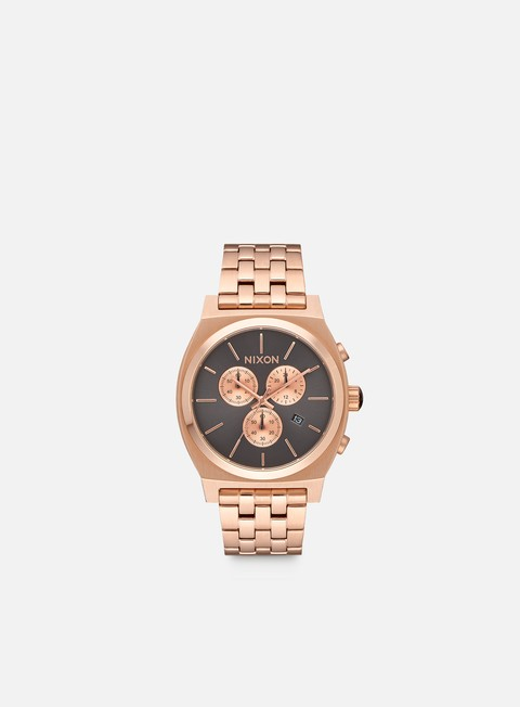 accessori nixon time teller chrono all rose gold gunmetal