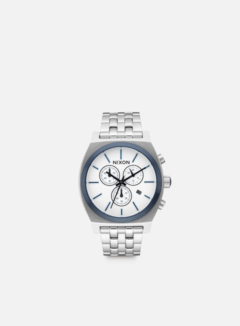 accessori nixon time teller chrono white sunray