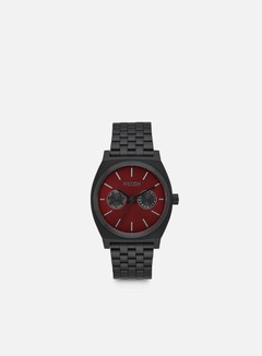 Nixon - Time Teller Deluxe, All Black/Deep Burgundy