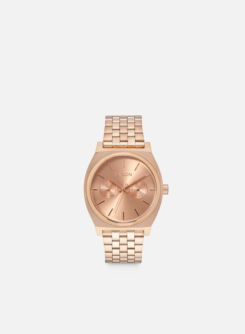 accessori nixon time teller deluxe all rose gold