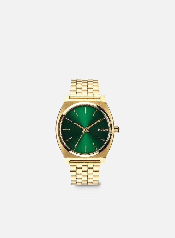 Nixon - Time Teller, Gold/Green Sunray