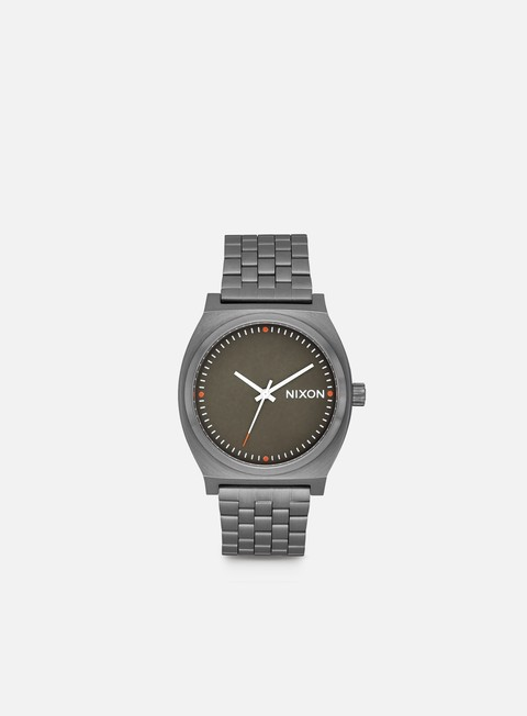 accessori nixon time teller gun metal slate orange