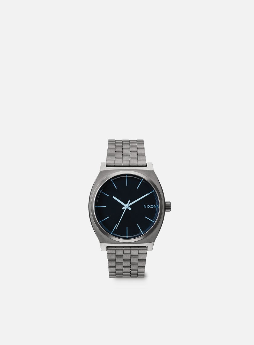 Nixon - Time Teller, Gunmetal/Blue Crystal