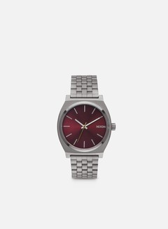 Nixon - Time Teller, Gunmetal/Deep Burgundy