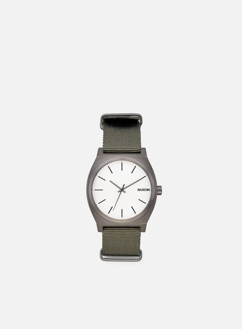 accessori nixon time teller gunmetal silver surplus