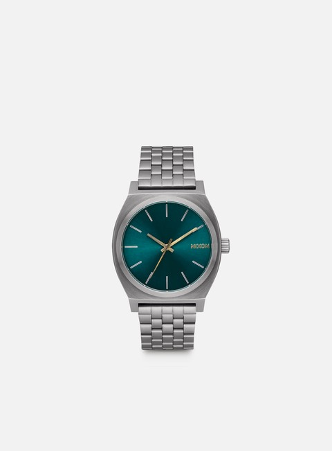 accessori nixon time teller gunmetal spruce brass