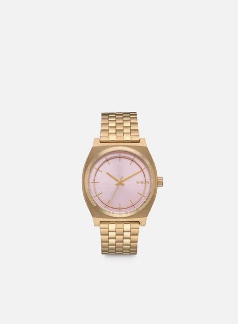 accessori nixon time teller light gold pink