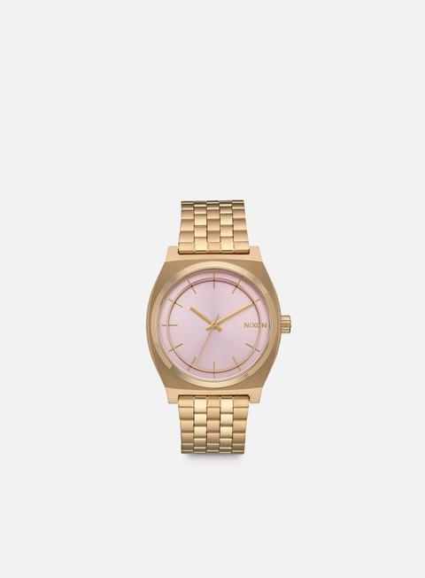 accessori nixon time teller light gold pink