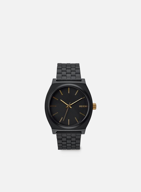 accessori nixon time teller matte black gold